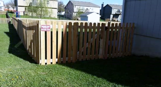 Outside of new fencing