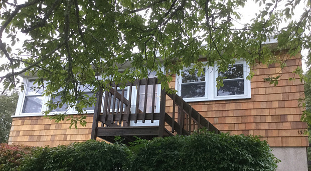 Cedar siding replacement