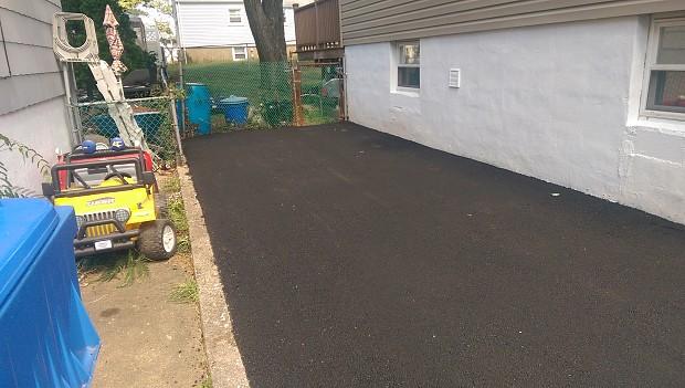 New asphalt driveway