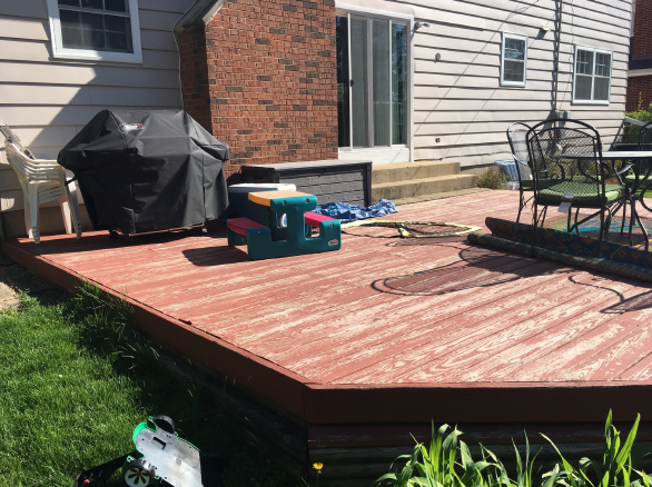 BEFORE: Ugly deck