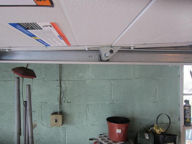 Replacement track for garage door opener