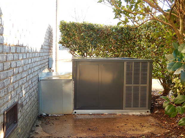 Heat pump back view