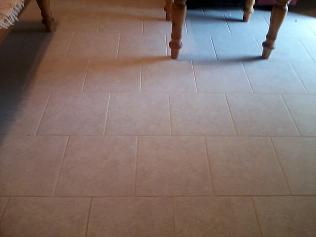 New floor tile for rental property