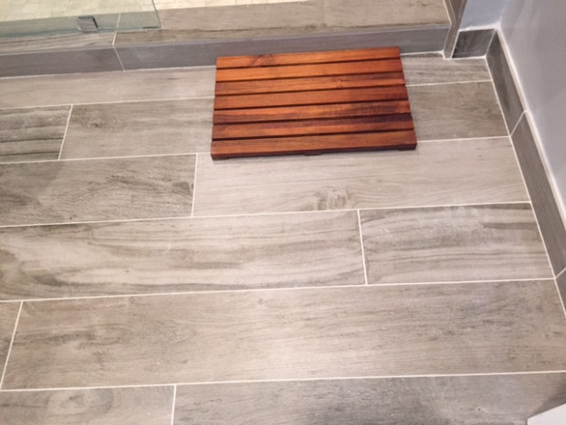 Ceramic tile with the look of wood planks