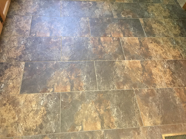 Tile floor closeup