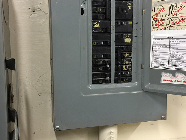 The facility's breaker box