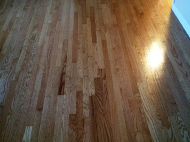 AFTER Gleaming oak floor