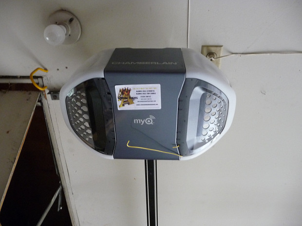 Garage door opener motor head