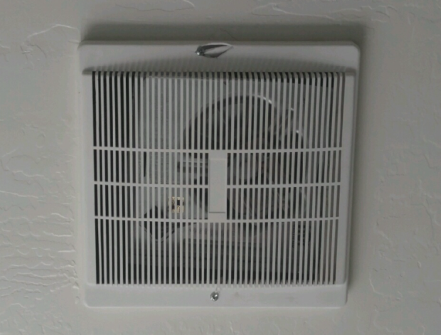 New vent fan in place