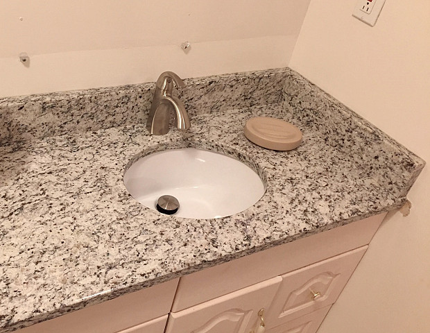 AFTER Upscale granite countertop