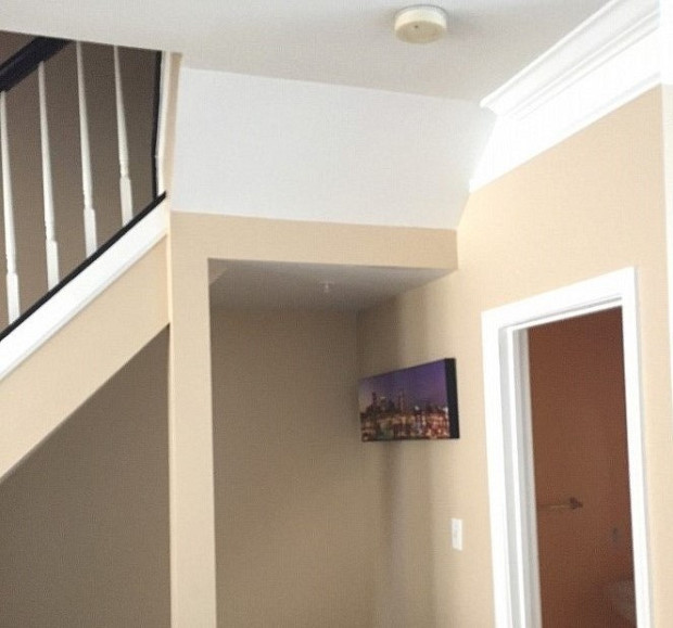 After - clean crisp new paint job on staircase