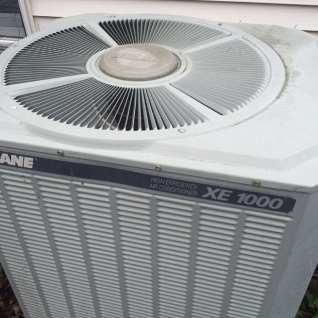 Air conditioner was blowing hot air