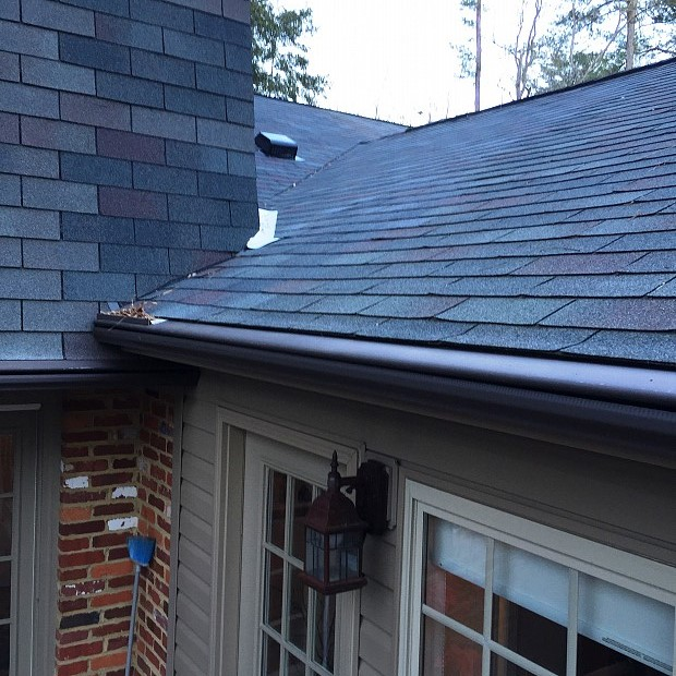 Roof valley successfully patched