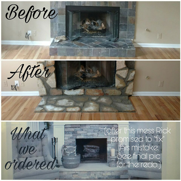 Fireplace remodel mess