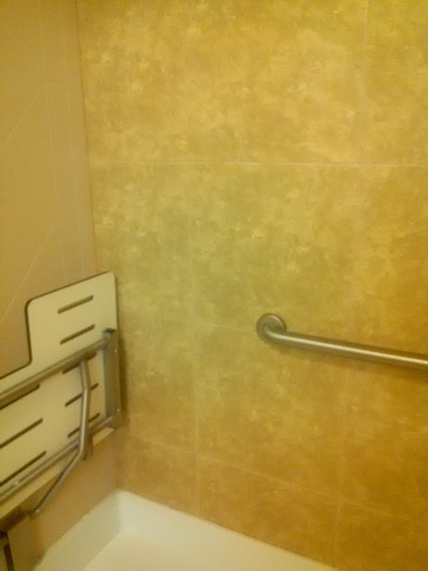 Shower tile installed in a very professional manner