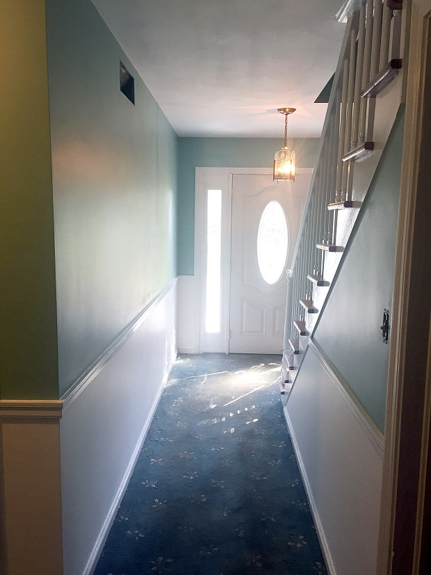Scraped and Painted Hallway