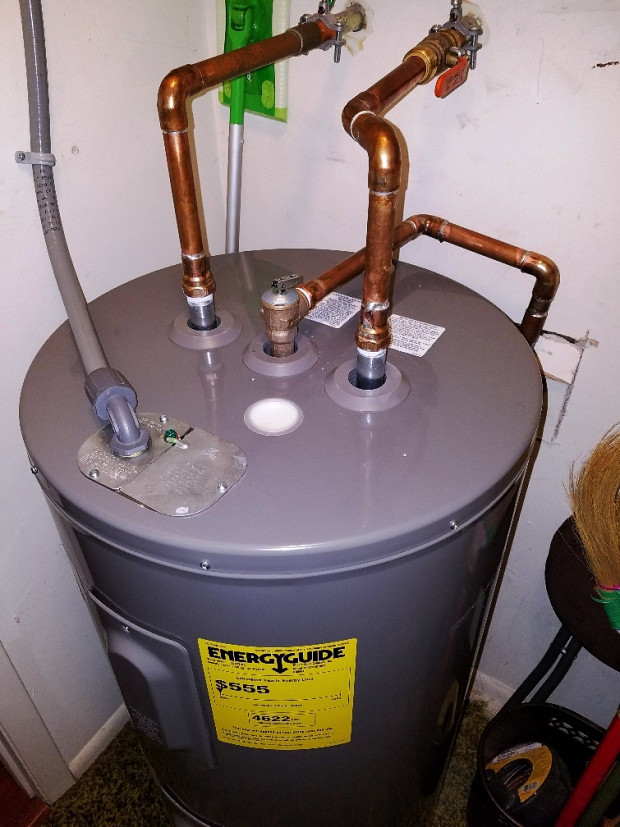 Water heater fits beautifully
