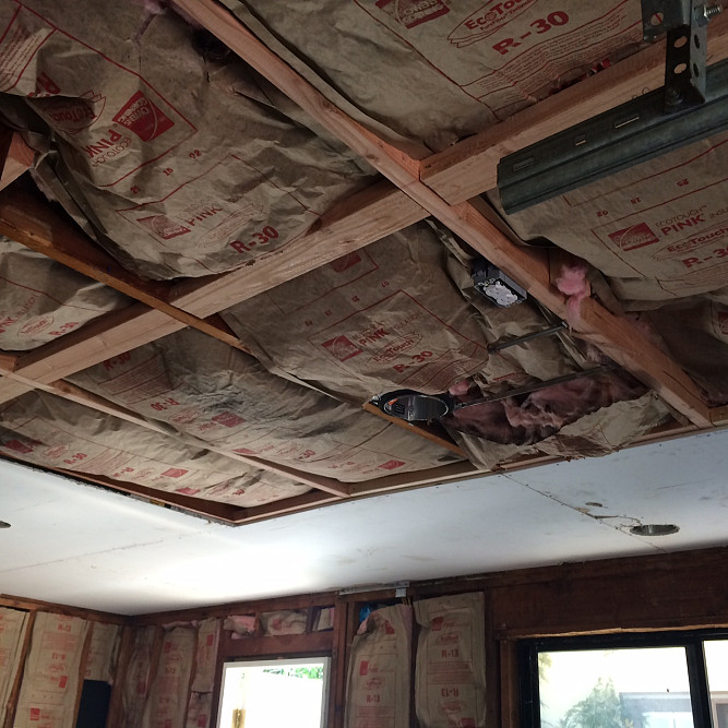 Ceiling remodel in progress