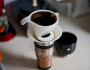 Here's a pic of my uber eco coffee setup - porcelain drip holder with a hemp filter. --Sayward