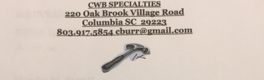 Cwb Specialties Elgin Sc 29045 Networx