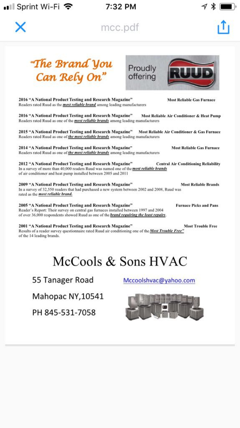 Mccools Amp Sons Hvac Networx