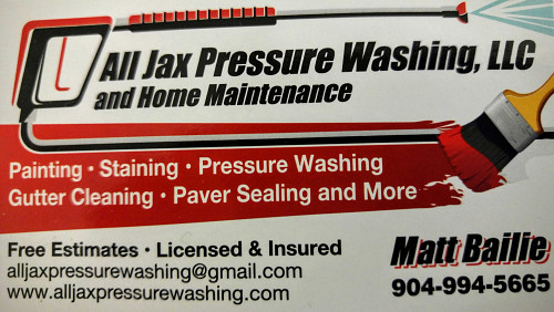 All Jax Pressure Washing Amp Home Maintenance Jacksonville