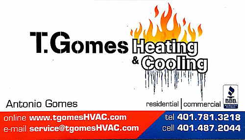 T Gomes Heating And Cooling Warwick Ri 02886 Networx