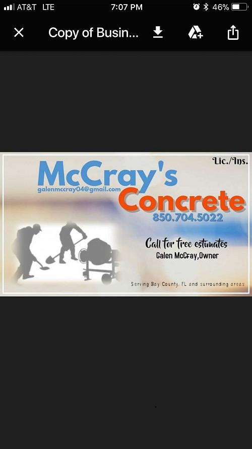 Mccray S Concrete Panama City Fl 32401 Networx