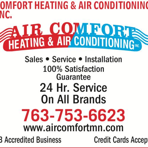 Air Comfort Heating Amp Air Conditioning Inc Anoka Mn