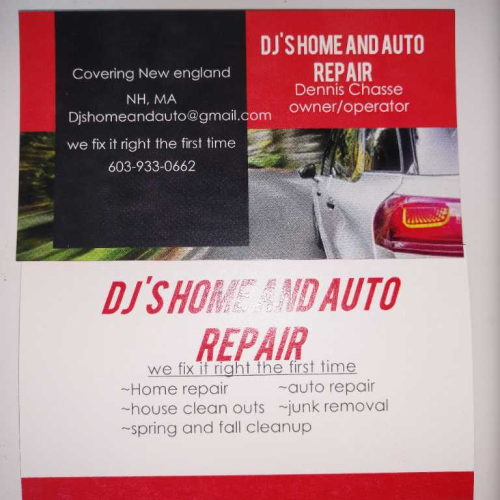 Dj S Home And Auto Repair Networx