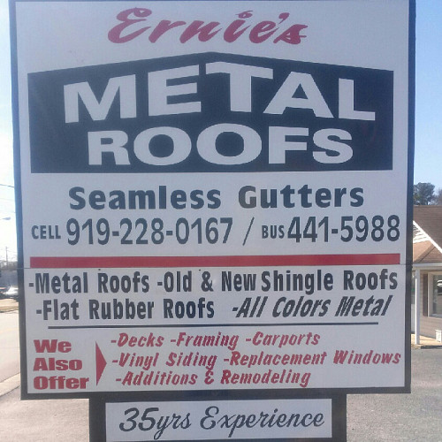 Ernie S Metal Roofs And Seamless Gutters Pittsboro Nc