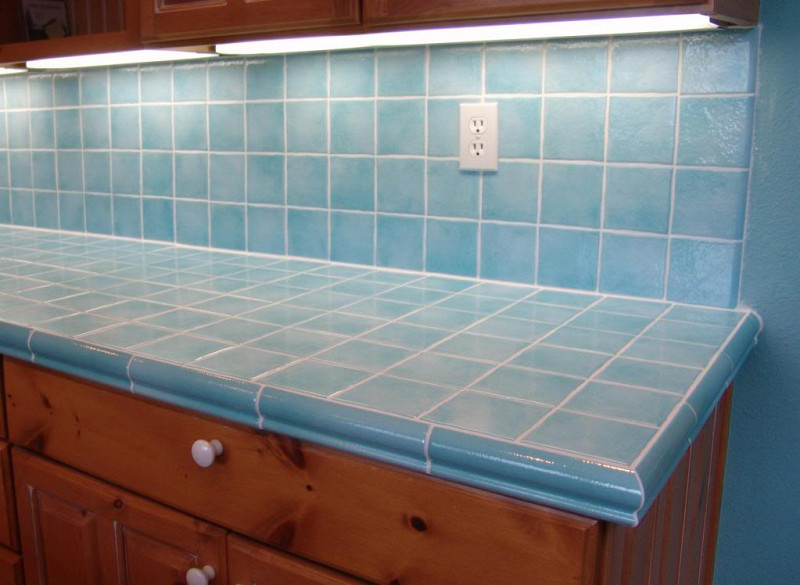 Kitchen counter tile options networx for Porcelain countertops cost