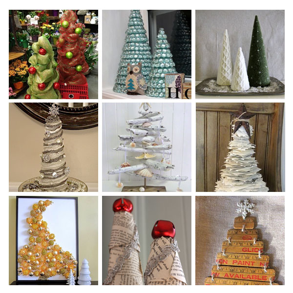 Home Decor Using Recycled Materials: DIY Christmas Trees From Recycled Materials