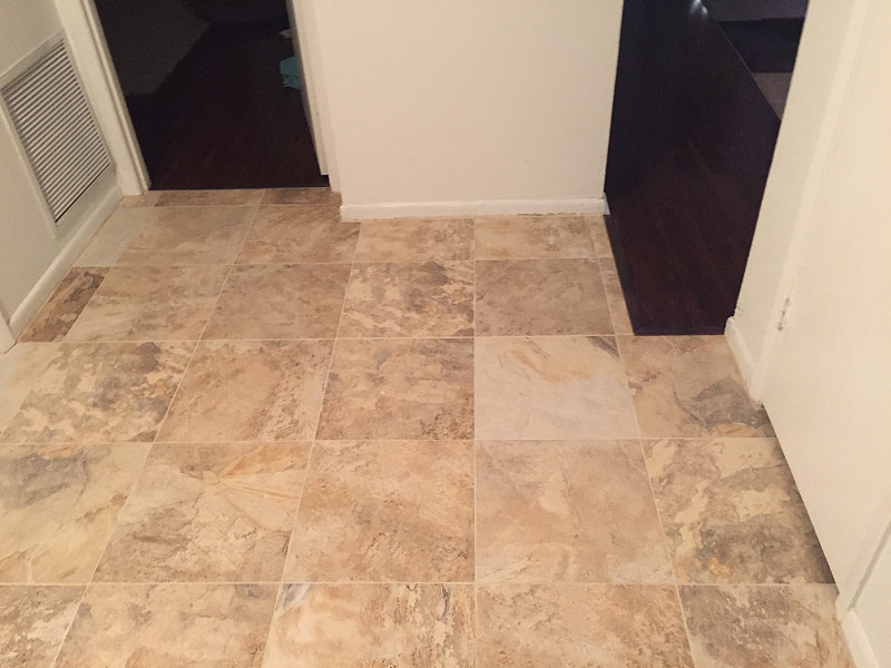 New Kitchen Floor Tile after Water Damage - Networx