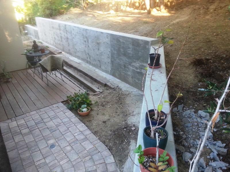 I Built A Concrete Retaining Wall As A Defense Against El Nino