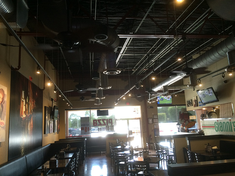 Restaurant Ceiling Fan Installation To Beat The Florida