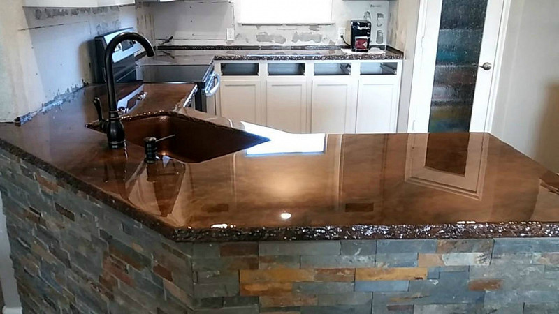 concrete countertops pros and cons networx. Black Bedroom Furniture Sets. Home Design Ideas