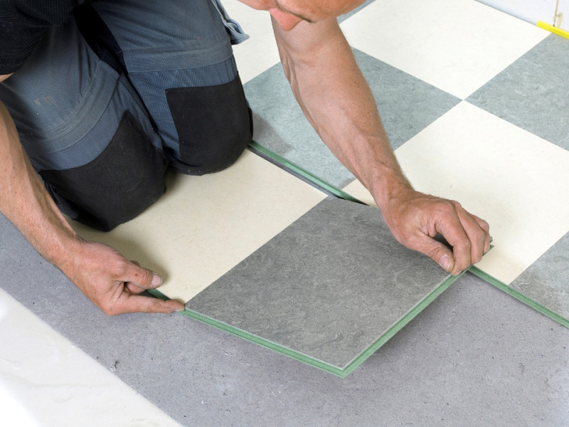 Can You Tile Over Linoleum Networx, Can You Put Lino On Concrete Floor